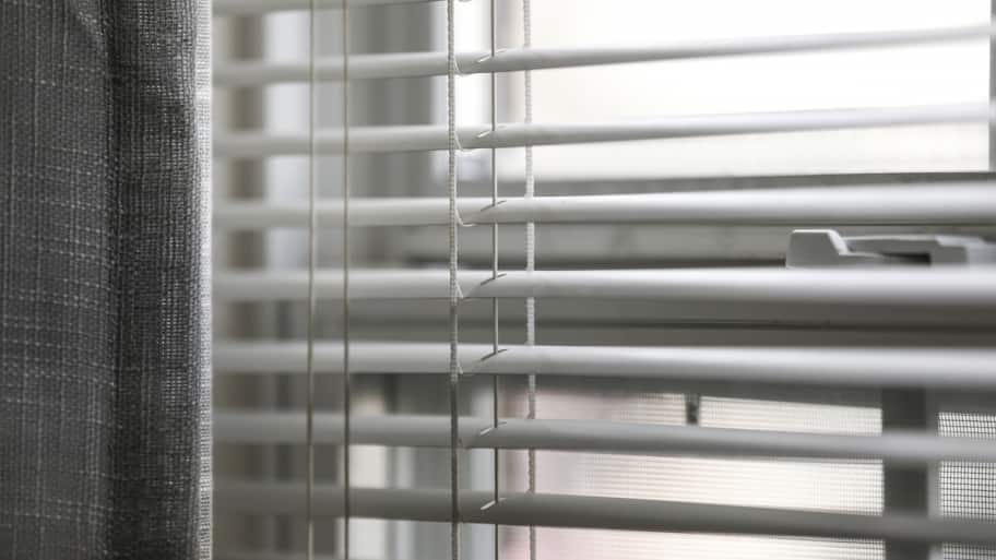 Grey Curtain And Blinds