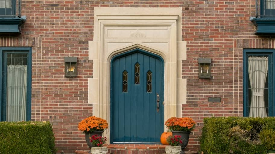 Blue front door & 3 Ways to Make Your Front Door Energy Efficient | Angie\u0027s List