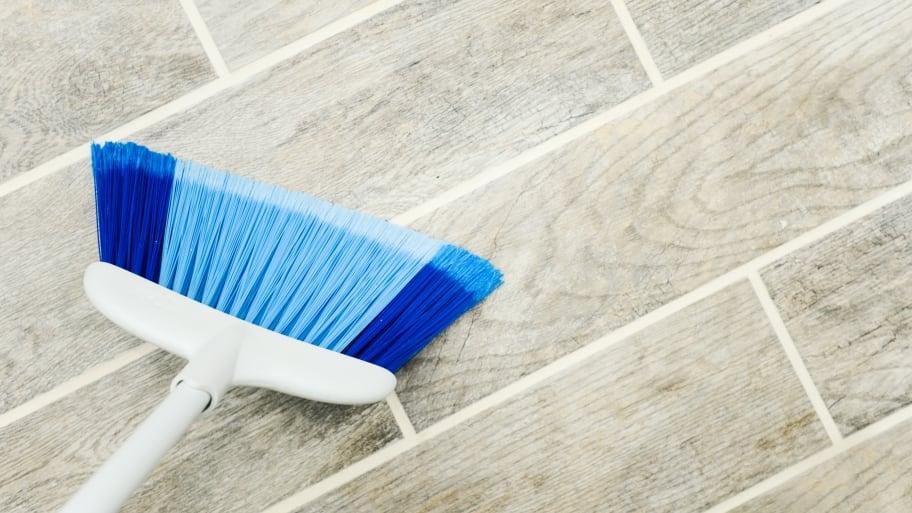 broom on wood floor