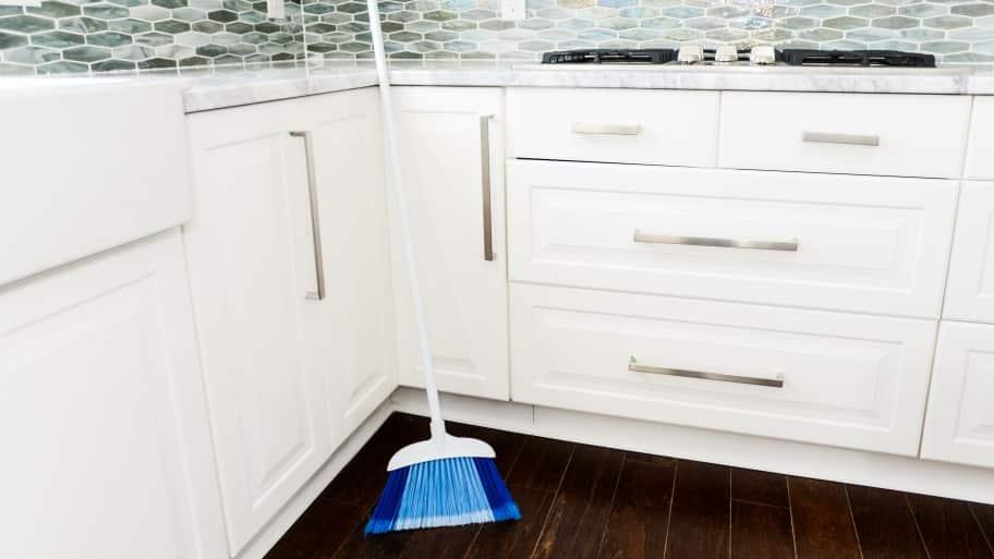 broom in kitchen