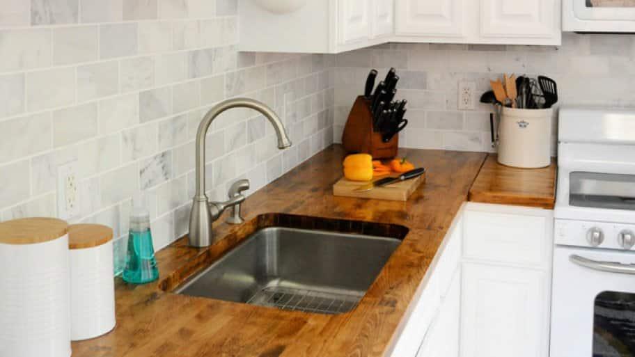 Charmant Butcher Block Countertop In Kitchen