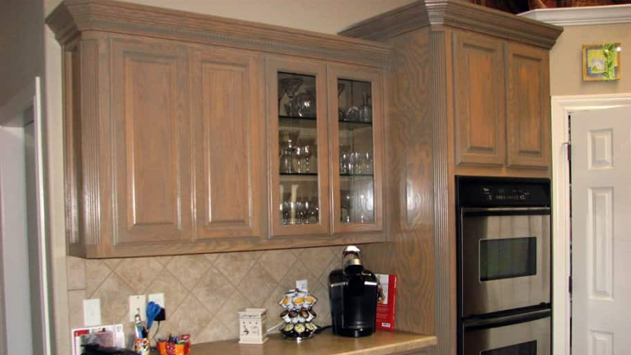 how much does it cost to stain cabinets angie s list rh angieslist com cost of kitchen cabinet refinishing cost of refinishing kitchen cabinet doors