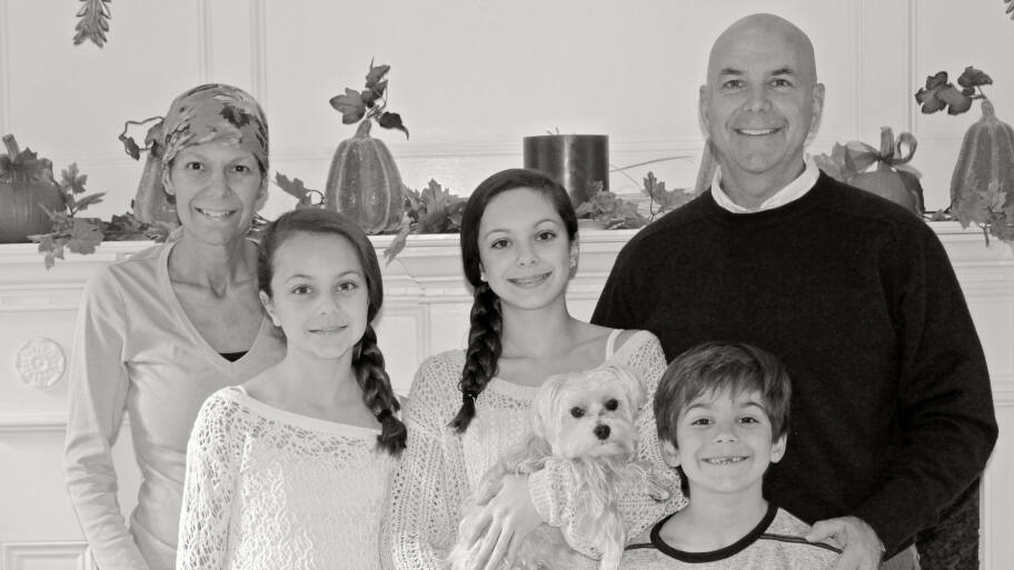 cancer patient with family