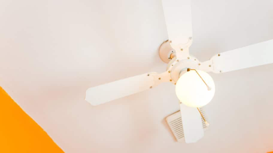 You can clean a ceiling fan using a pillowcase, ceiling fan duster or vacuum attachment. (Photo by Summer Galyan)