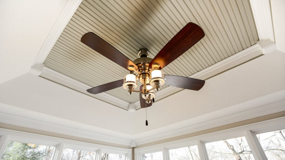 Installing a ceiling fan angies list ceiling fan with wood blades and glass globe lights mozeypictures Image collections