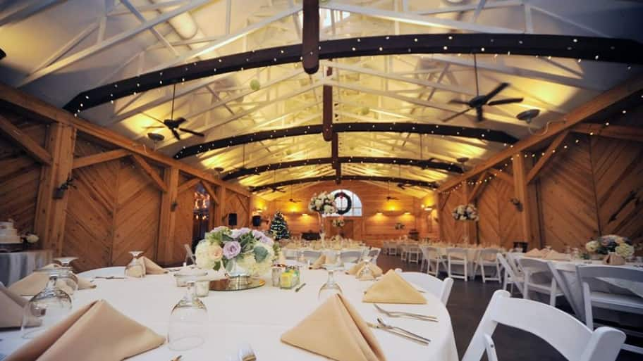By thinking about the kind of wedding reception you want, you'll be able to give the DJ all of the information they need. (Photo courtesy of Alexander Homestead Weddings)