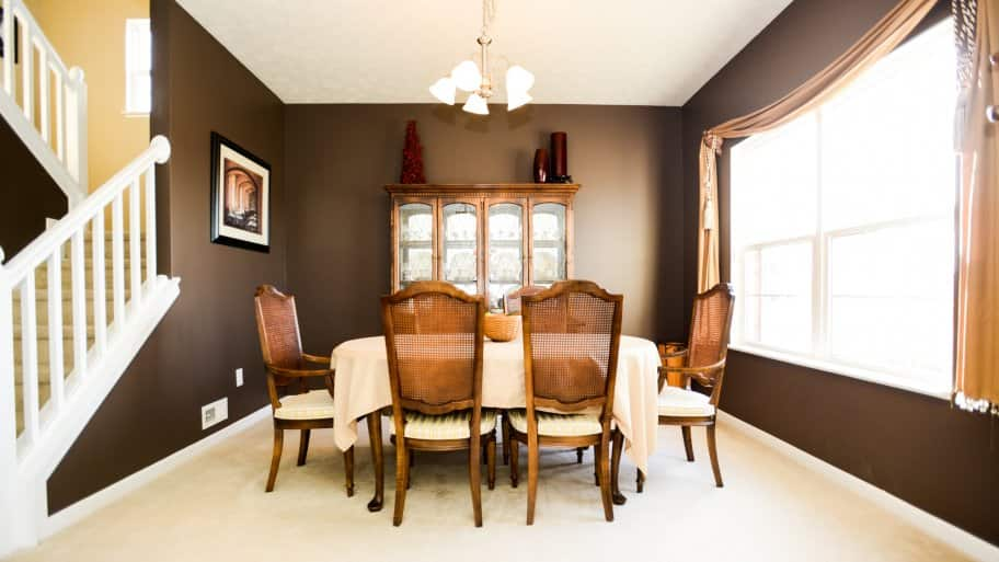 Attractive Brown Dining Room Paint Colors
