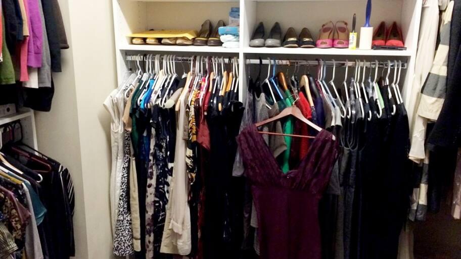 Clothes In A Closet