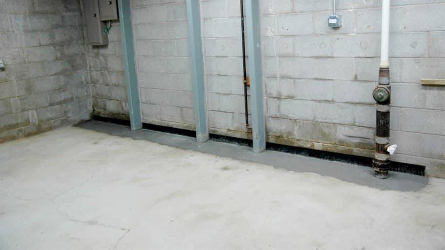 Concrete cellar floor