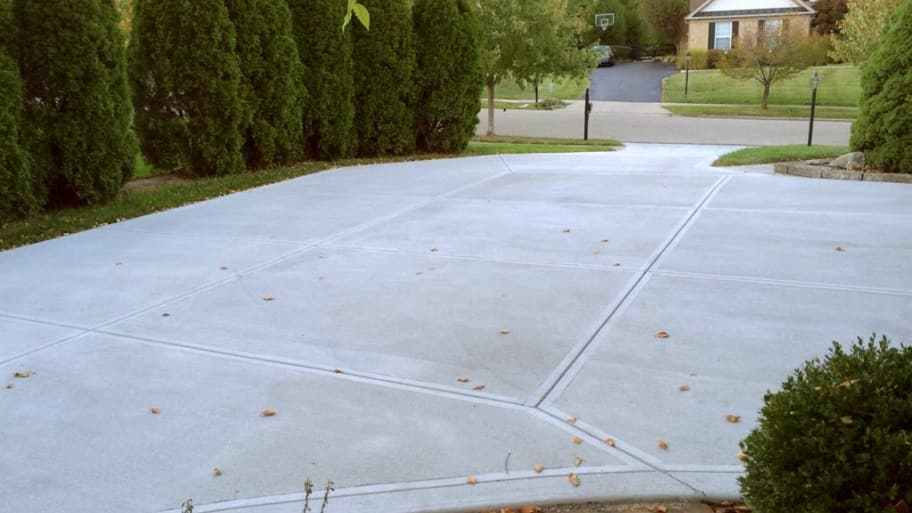 Newly Poured Concrete Driveway