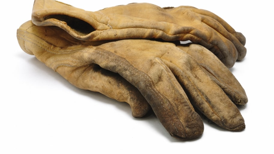 leather construction work gloves