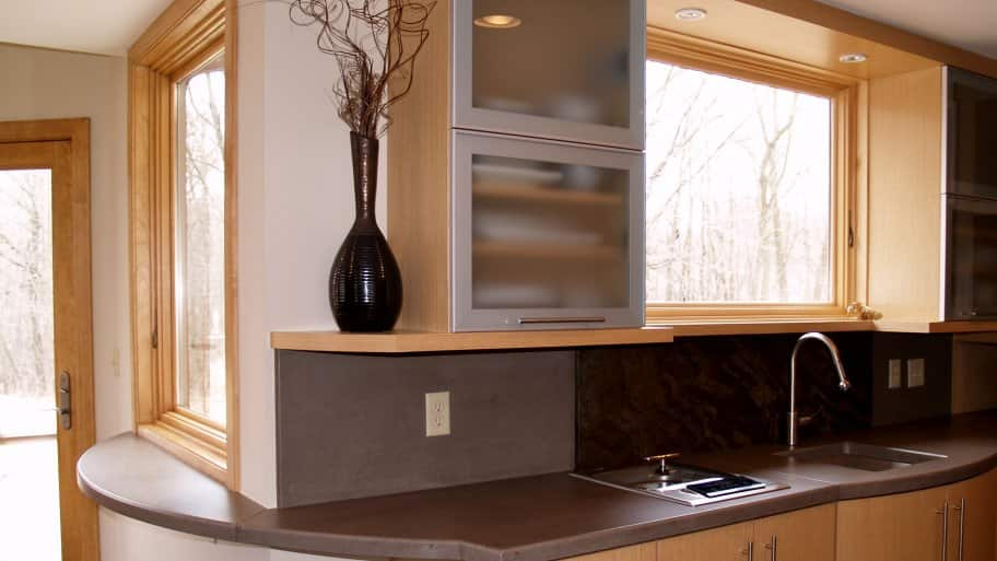 Brown Concrete Countertops