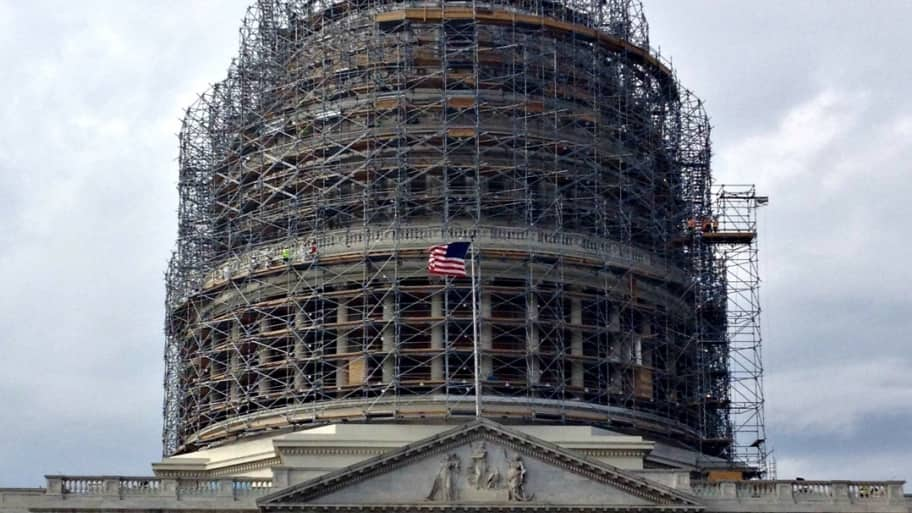 D.C. capitol dome with scaffolding under renovation (Photo by Jason Hargraves)