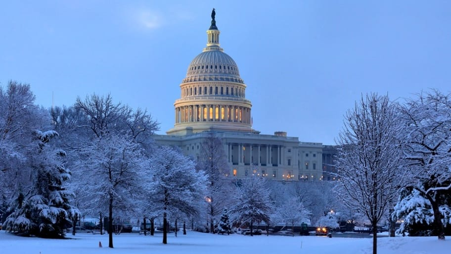 Snowfall in D.C. can be beautiful, but it can turn ugly for those who find their cars have been towed because of a snow emergency. (Photo courtesy of the Architect of the Capitol)