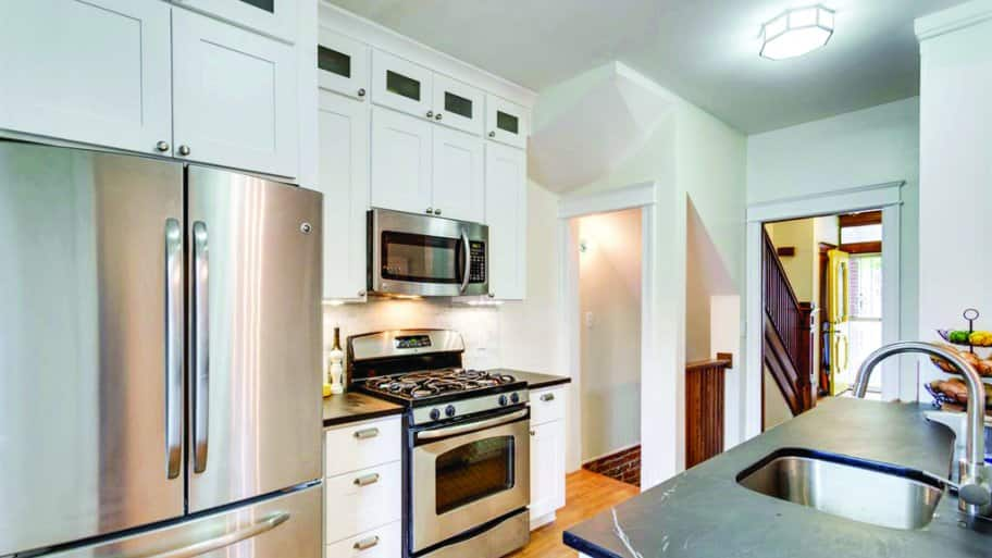 kitchen cabinets in recent remodel