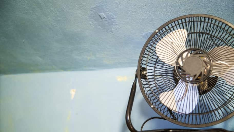 Fan on a desk