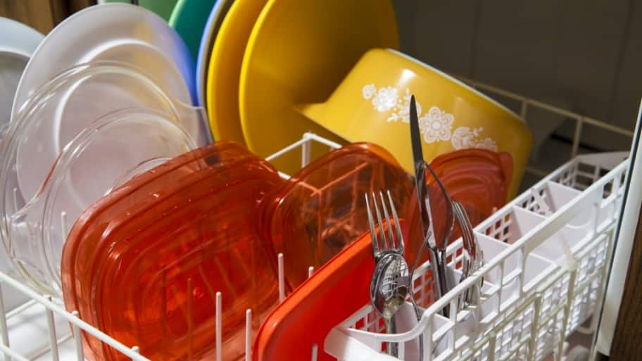 Dishes in dishwasher