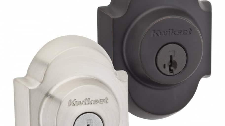 Two deadbolt locks