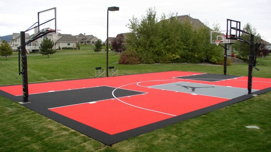 Know the cost to get your dream basketball court installed for Sport court paint