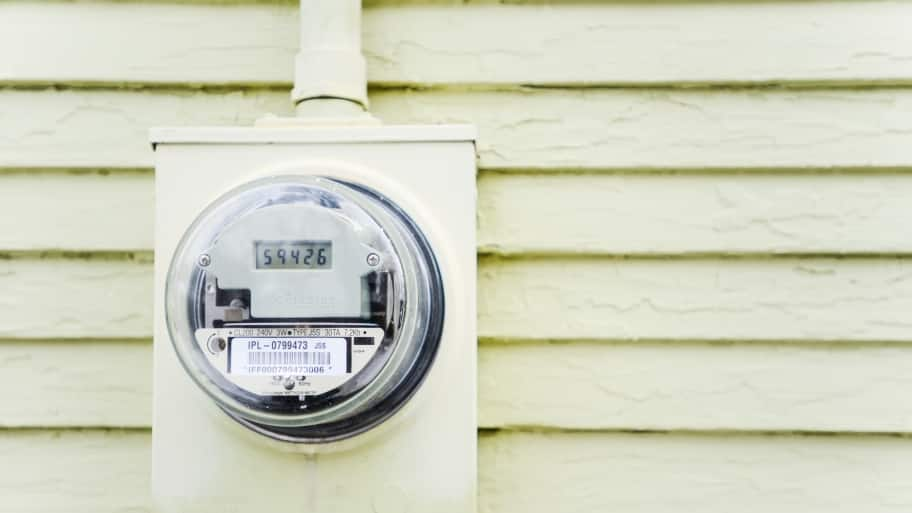 Wonderful Electric Meter And Electric Meter Socket On Outside Of Siding