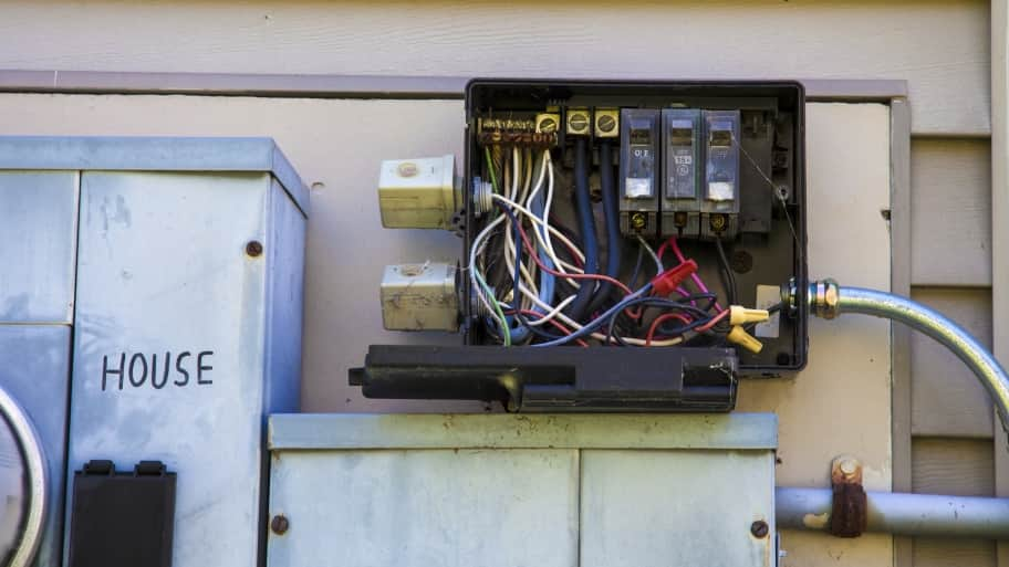 broken electrical system components