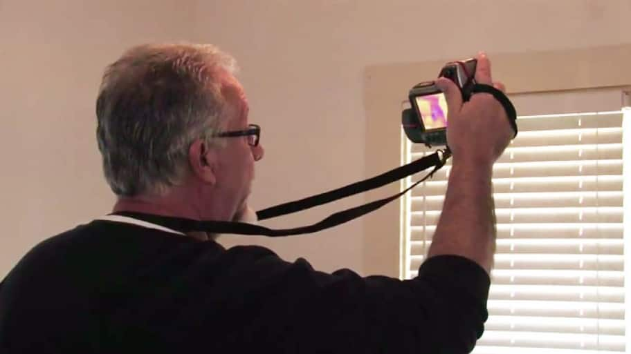 Using a thermal energy scanner for an energy audit