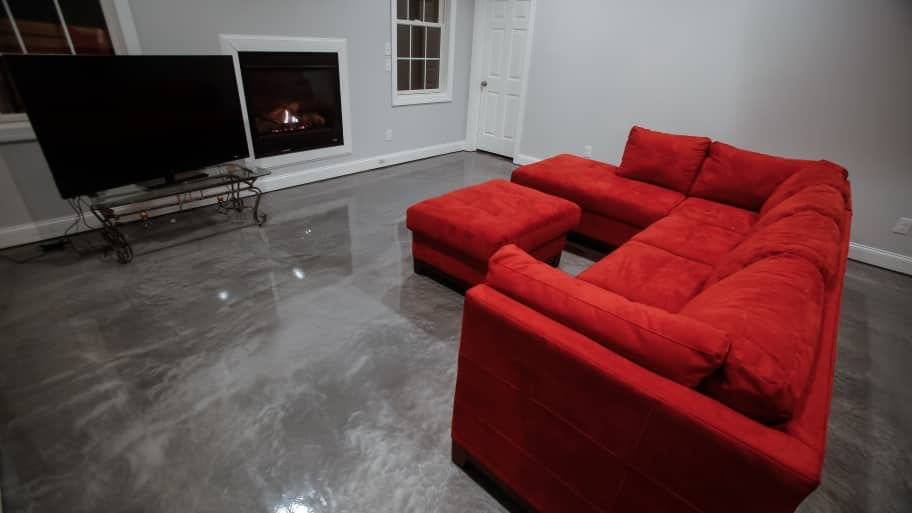 Epoxy Coating Transforms Boring Flooring