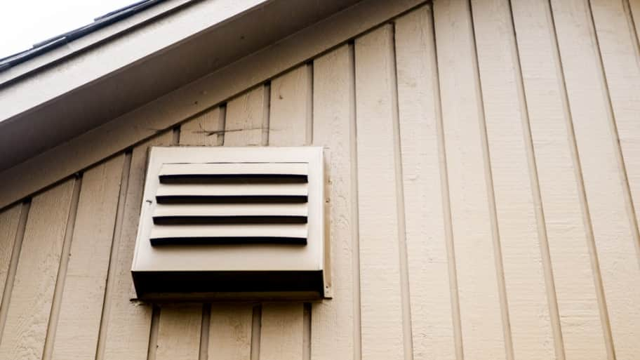 A bathroom exhaust fan should always lead to an external vent and not just  terminate in the attic   Photo by Summer Galyan. Is Your Bathroom Exhaust Fan Leaking Moisture    Angie s List
