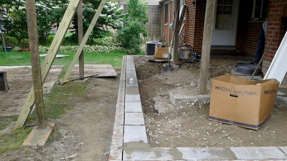 Porch foundation reconstruction