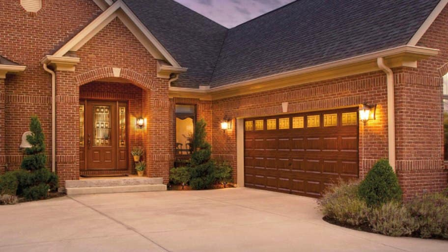faux wood garage door