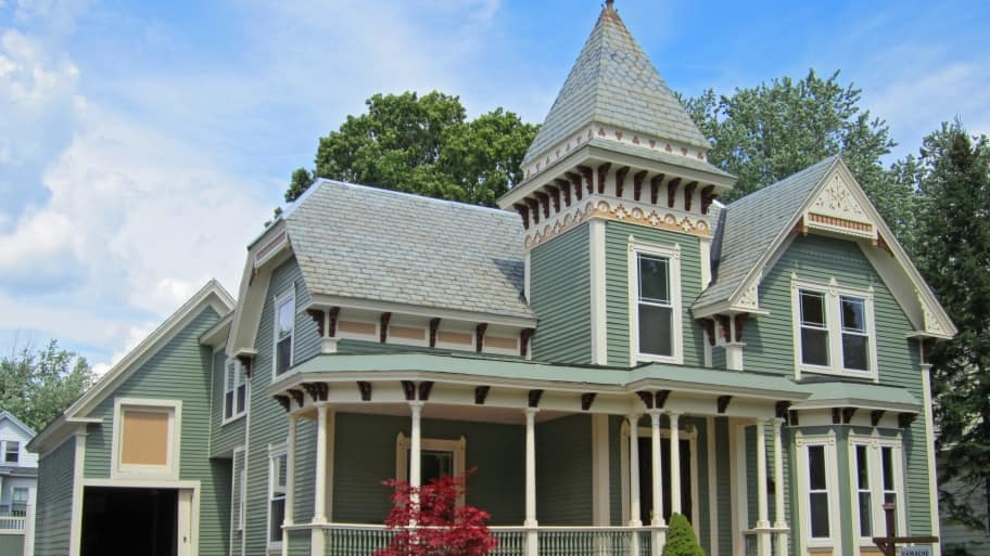 Victorian Homes Include Towers Porches And Oftentimes Jeweled Exterior Color Schemes Photo Courtesy Of Angies List Member Jeff M