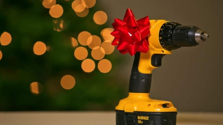 cordless drill with bow on top