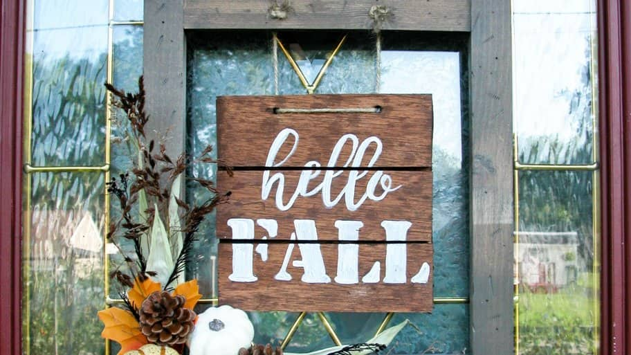 how to make a front doorHow to Make a Fall Sign for Your Front Door  Angies List