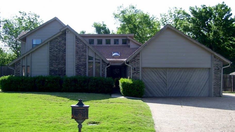 a house with fiber cement siding