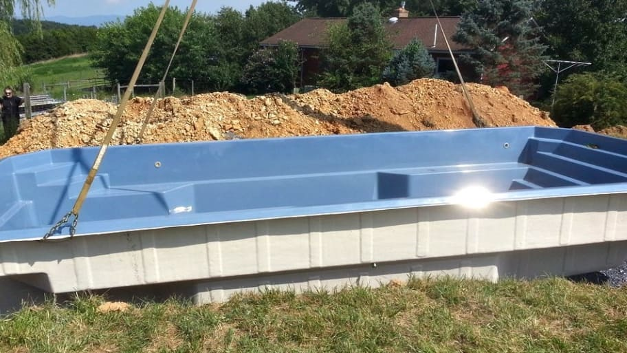 superior can a fiberglass pool be installed above ground #5: fiberglass saltwater swimming pool