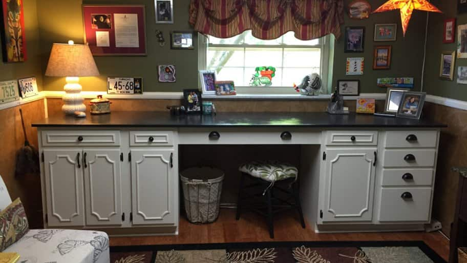 DIY Kitchen Cabinets Add Storage Space To Family Room