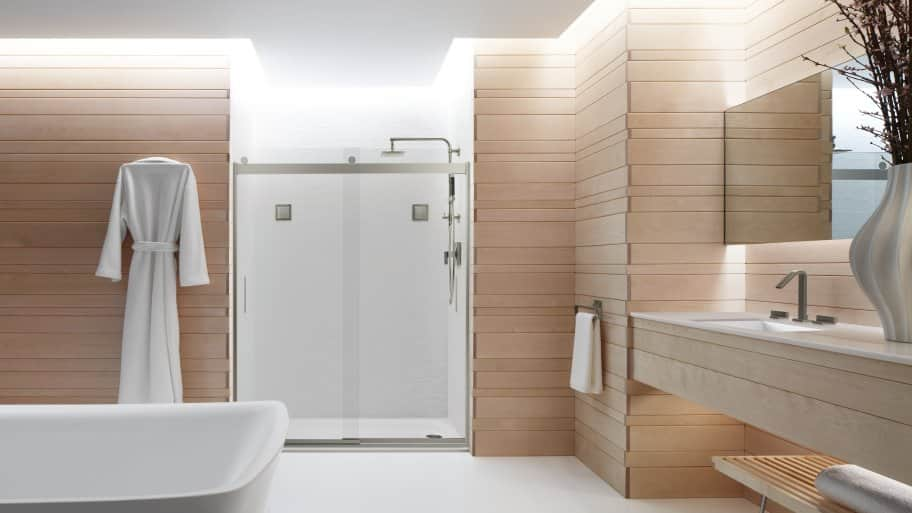 levity shower door is a frameless bypass shower door photo courtesy of kohler