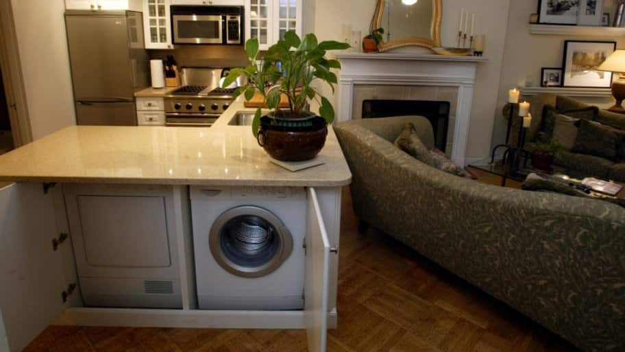 how to create a laundry room in your apartment angie s list rh angieslist com washer and dryer in kitchen cabinet washer and dryer in kitchen design