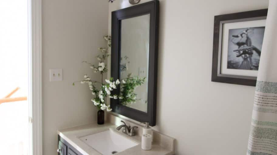 How To Make A DIY Bathroom Mirror Frame