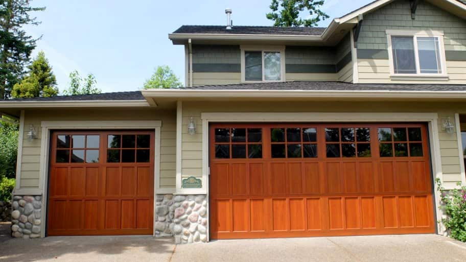 high-tech power-coated aluminum garage doors