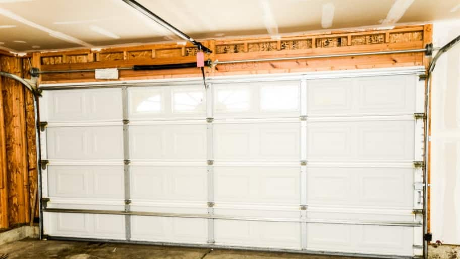 inside of a garage door