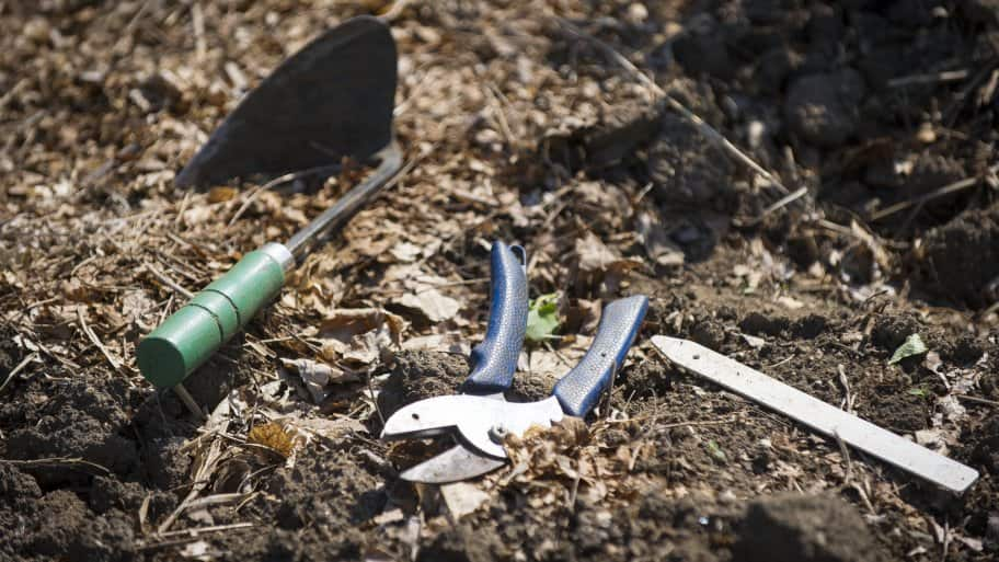 gardening tools for cover crops (Photo by Doug McSchooler)