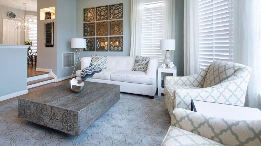 Gray Beach Inspired Living Room