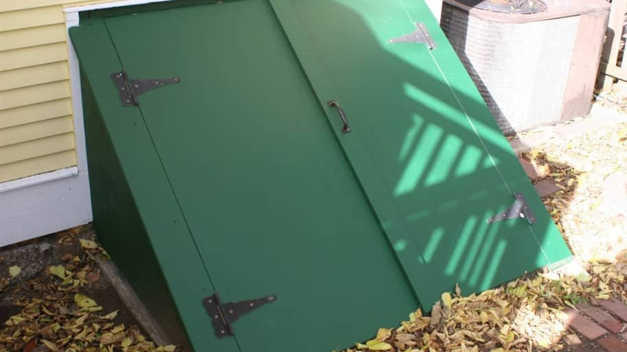 green custom cellar bulkhead door & Install a Cellar Door for Access and Storm Safety | Angie\u0027s List
