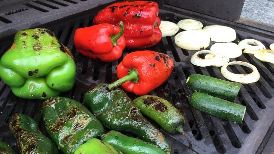 peppers for vegetarian grilling