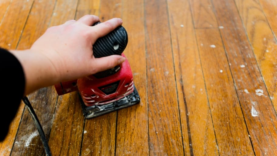 Hardwood floor refinishing cost and other factors angie for Can you sand a floor with a hand sander