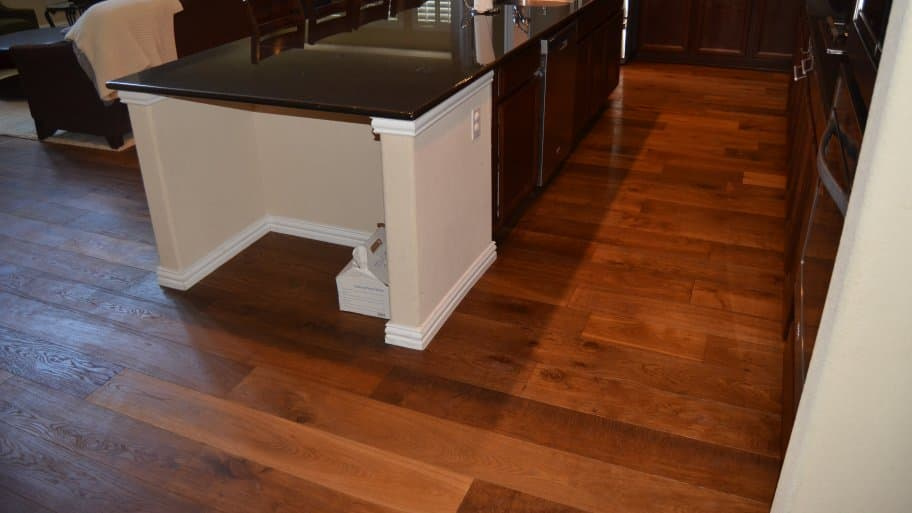 Hardwood Flooring In Kitchen And Family Room