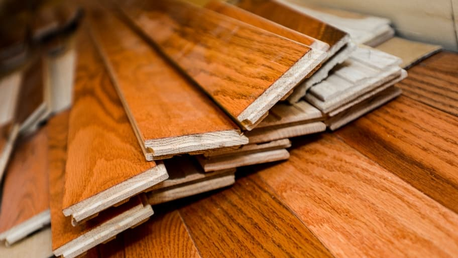 stack of hardwood flooring planks (Photo by Summer Galyan)