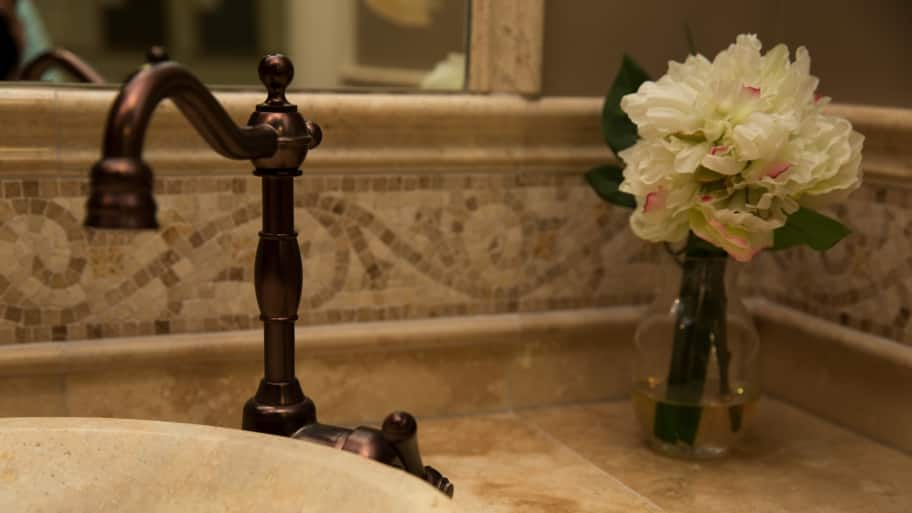 decorative bathroom faucet and sink