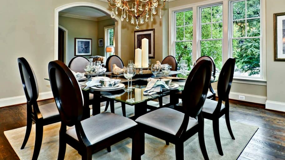 Staged Dining Room In DC